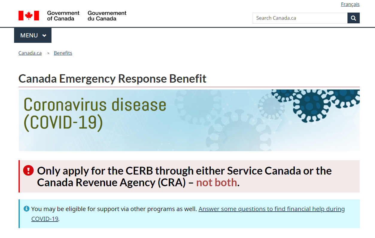 Canadian Emergency Response Benefit